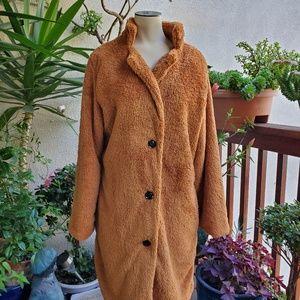 Furry Womens Coat NWOT